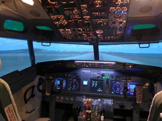 Flight Experience Flight Simulator: Flight simulator cockpit