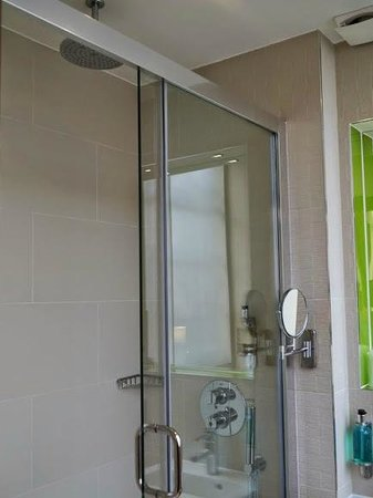 Seraphine London Kensington Gardens: The shower consists of a handheld piece and a piece in the ceiling