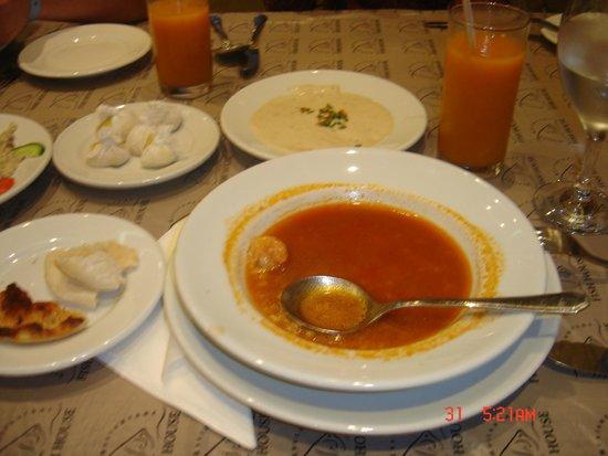 Fish House: Креветочный суп