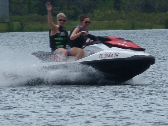 Buena Vista Watersports: pam's first time driving a jet ski