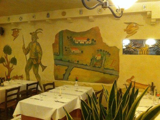 Antica Trattoria La Fossetta: saletta interna, topografia