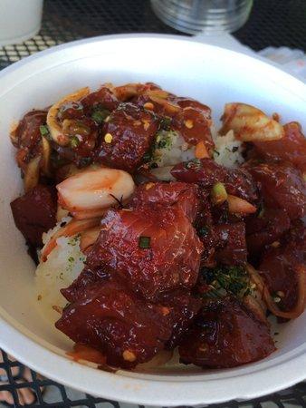 The Hibachi: ハバネロ入りスパイシーポキ丼、うまいっす。