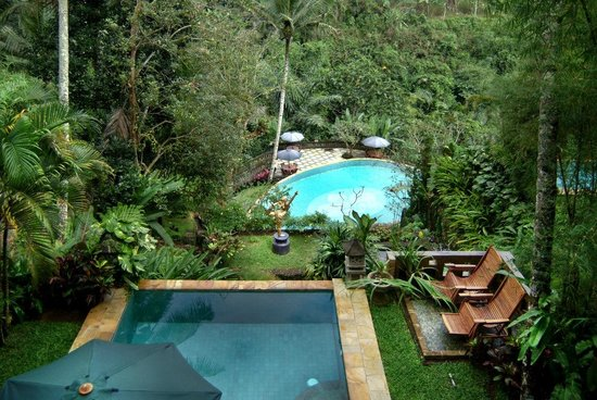 Anahata Villas & Spa Resort: Private pool and Main pool