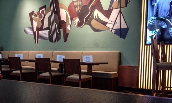 Funkhaus - Café, Bar, Restaurant: This is an ordinal 1952 wall painting didn't know until afterwards. Would have aimed at the whol