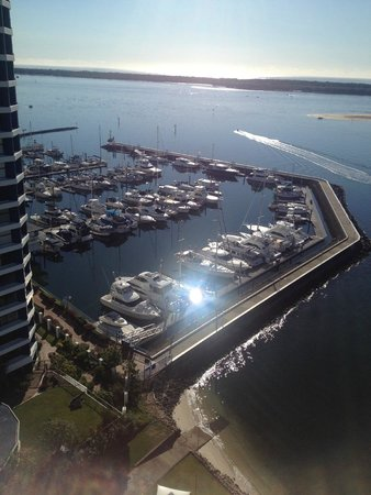 Broadwater Shores: water view from balcony