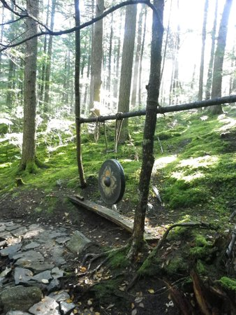 New Germany, Canada: Buddhist gong in the woods