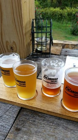 Calaboose Cellars: A flight of beers.