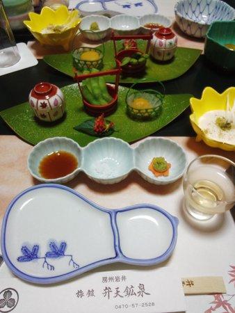 Ryokan Bentenkosen: 夕食の始まり