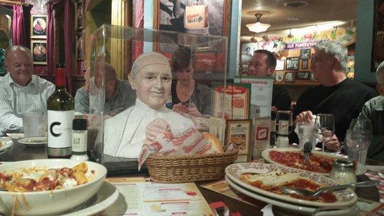 Buca di Beppo Italian Restaurant: The Pope table