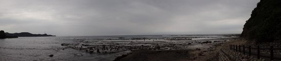 Iwami Tatamigaura Beach: ノジュールのある海