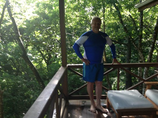 Secret Bay: Getting ready for a scuba dive after a great breakfast prepared by Rosaline