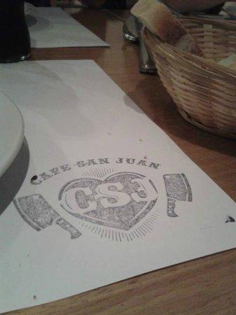 Cafe San Juan la Cantina : Mantel