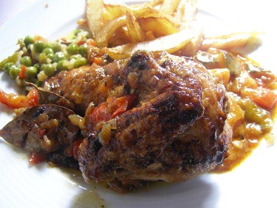 El Greco: poulet grillé en sauce