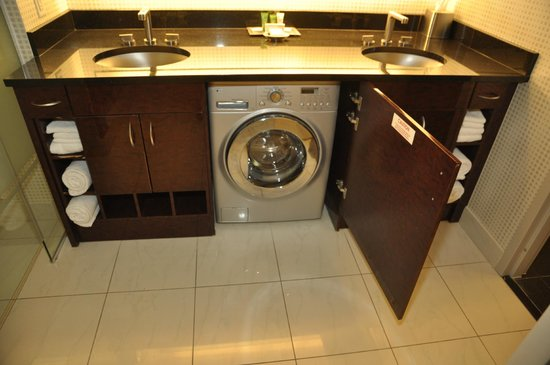 All in one washer/dryer under sink in bathroom - Picture of Elara by ...