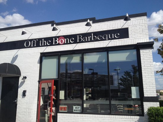 Off the Bone Barbeque: The owner in the door