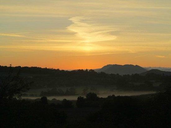 La Cocagniere: Blick morgens aus dem Zimmer