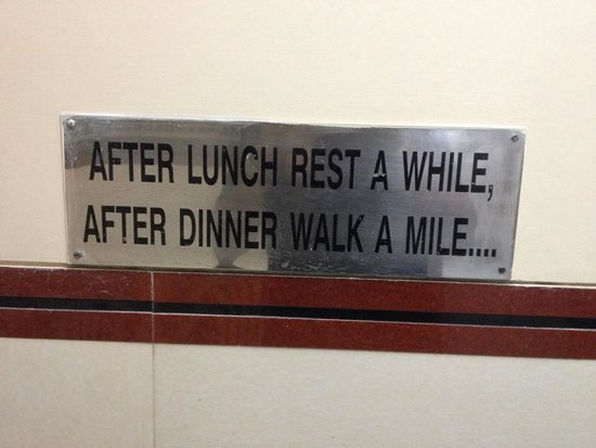Ramashraya Hindu Vishranti Griha Restaurant : After Dinner walk a mile