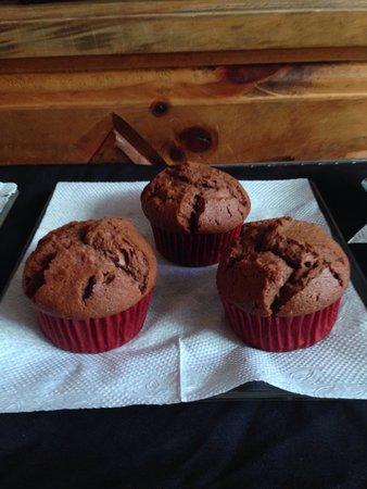 Girasoles Restaurante: Muffin de chocolate!!! Riquísimos
