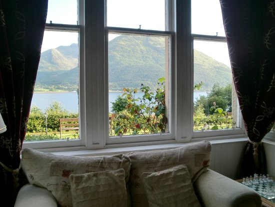 Creag Mhor Lodge: Blick aus dem Zimmerfenster