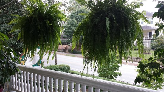 Sugar Magnolia Bed & Breakfast : View from the Royal Suite's private front porch