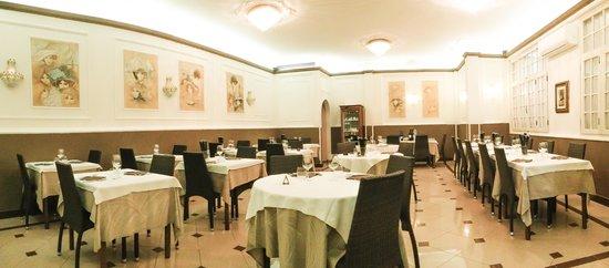 Hotel Alba sul Mare: sala da pranzo interna
