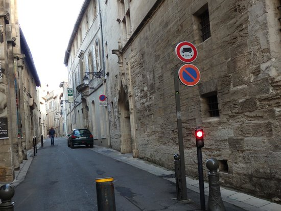Hotel Du Musee: The street approach