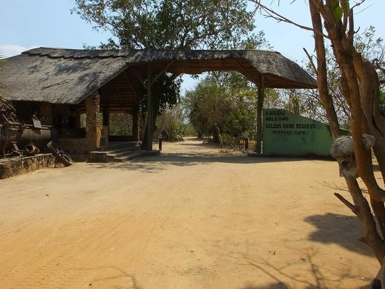 Selous Great Water Lodge: Reserve entry, southern end of park.