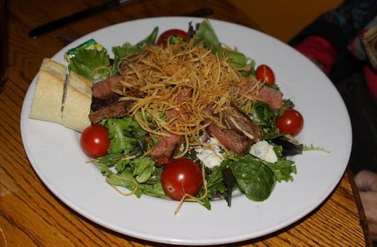 Blue Window: Steak salad
