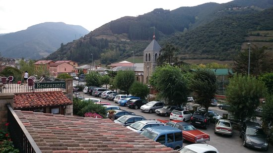 Infantado Hotel: View from 1st floor looking S towards Potes