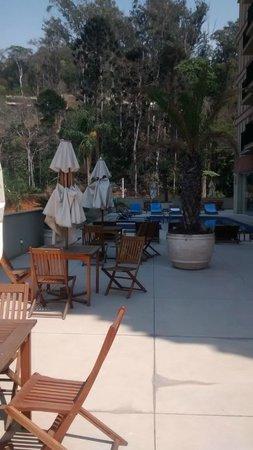 Granja Brasil Resort: Área da Piscina