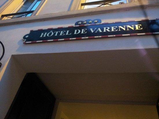 Hotel de Varenne: Hotel Entrance
