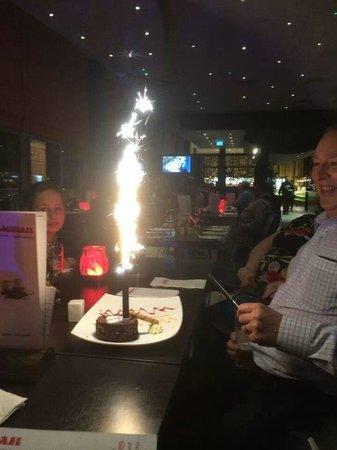 Aagrah Crystal Peaks Birthday Cake Sparkler