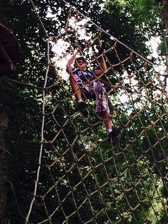 Bali Treetop Adventure Park: One of the stage
