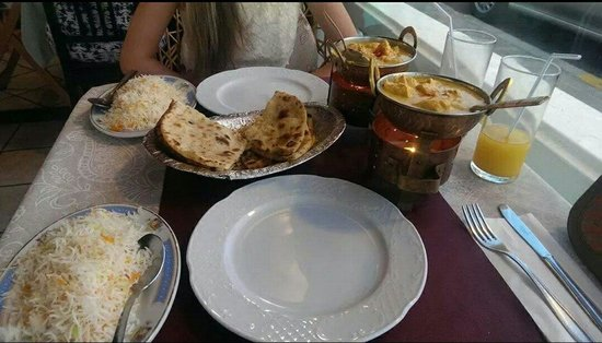 Chicken Korma Rice Naans Delicious Picture Of Fusion 22