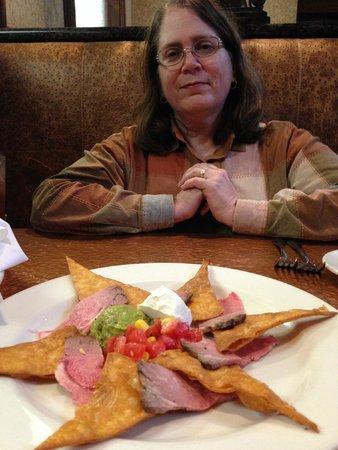 Copper Creek Restaurant : My happy wife