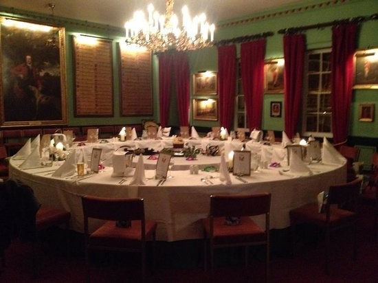 Restaurant at The Swan Tarporley: Our meal in the Hunt Room