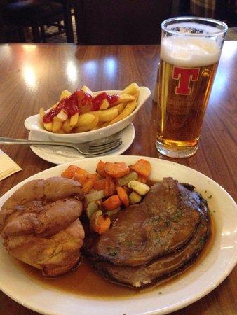 Atholl Hotel Restaurant: Rib steak