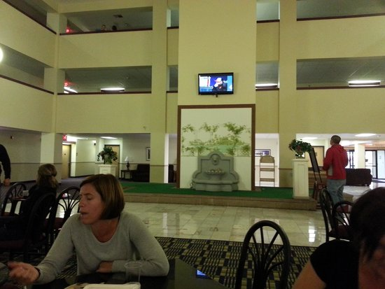 Comfort Inn: Hard to watch the big game on this TV
