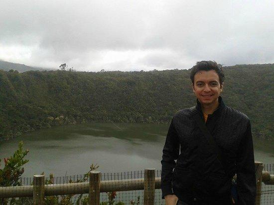 Laguna de Guatavita: Yo en Guatavita