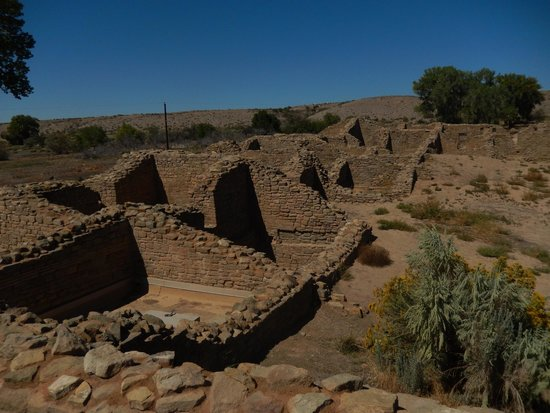 Aztec Ruins National Monument: This is only the merest, tiny portion of Aztec ruins' west ruin.