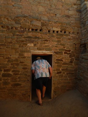 "Aztec Ruins National Monument: I weigh over 250#, and I'm 5'11""; I could never have entered through the original doorways."