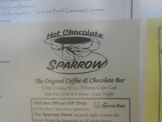 Hot Chocolate Sparrow: Insegna