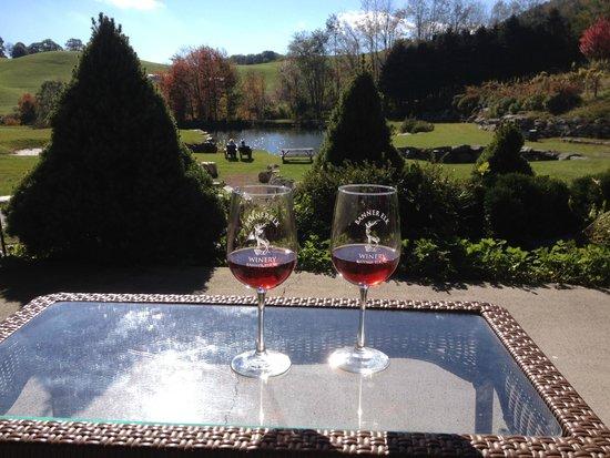 Banner Elk Winery: Enjoying the beautiful setting