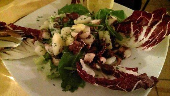 'O Sole Mio: Octopus and potato salad