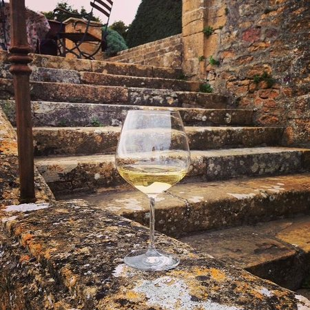 Château de Bagnols : Terrace wine