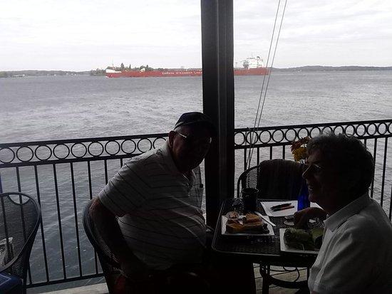Scenic lunch at bella s clayton ny fotografía de