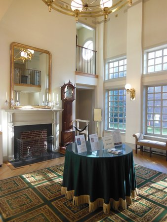 Concord Museum: The reception area opens to a two story entry hall