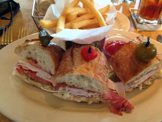 The Cheesecake Factory: Italian Sandwich with French Fries
