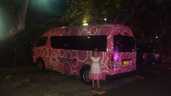 Hotel Re!: Tolle rosa Bus