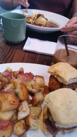 The French Press: Sweet Baby Breesus with Breakfast Potatoes and Cajun Benedict.
